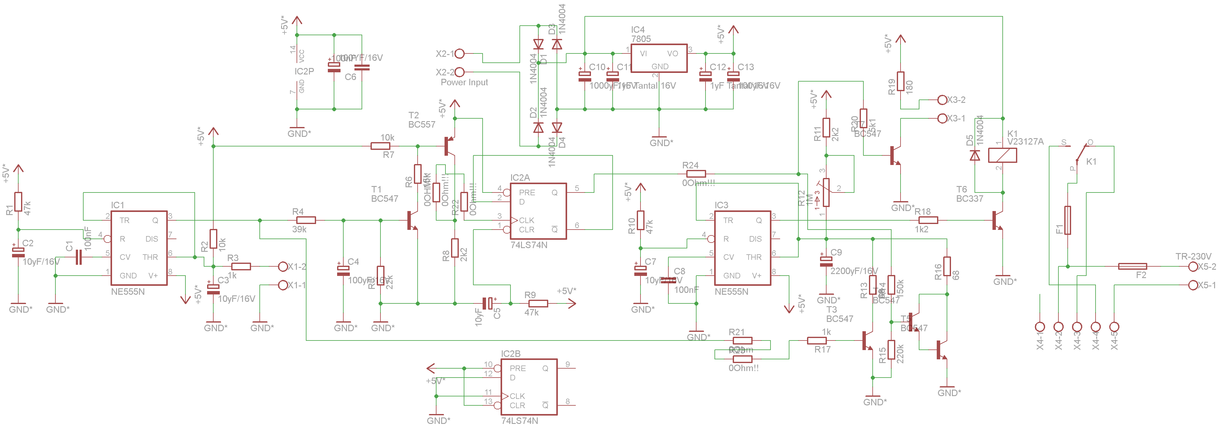 Index Debounce Circuit Schematic The Of Project Is Shown Above Because Control Needs Much Less Power Than Connected Light I Decided To Go For Two Different